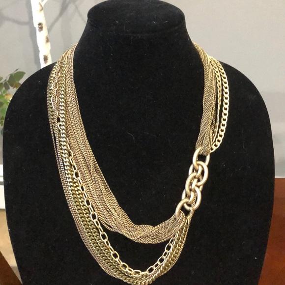 J. Crew Jewelry - Jcrew  gold tone multi strand link necklace